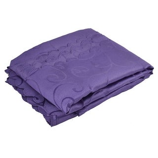 Hotel Restaurant Rectangular Tablecloth Table Cloth Cover Purple 82 x 59 Inch