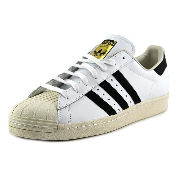 Adidas Superstar 80's Men Round Toe Leather White Sneakers