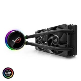 Link to ASUS Fan ROG RYUO 240 AIO liquid CPU cooler color OLED Aura Sync RGB 120mm Fan Retail Similar Items in Computer Cards & Components