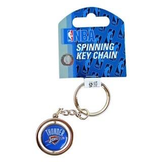 Cleanlapsports Oklahoma City Thunder 3D Basketball Spinning Keychain