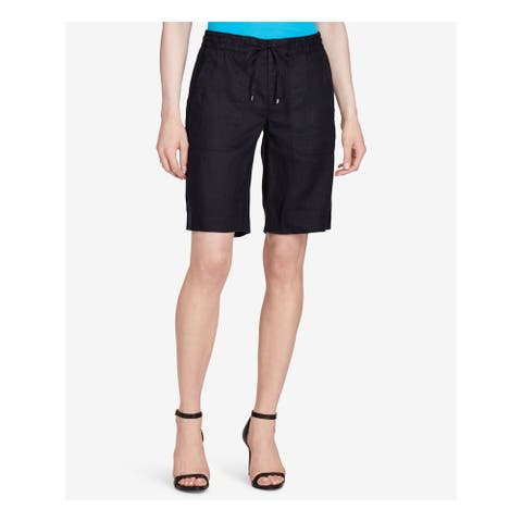Ralph Lauren Womens Black Bermuda Short Size: 2