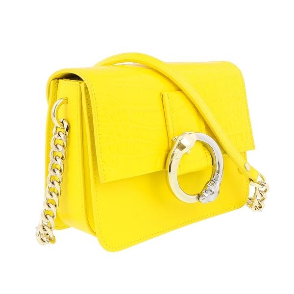 Class Roberto Cavalli Paris 001 Yellow Small Shoulder Bag