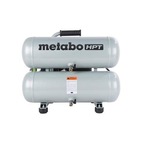 Metabo HPT EC99SM Portable Electric Twin Stack Air Compressor, 4 Gal, 135 PSI