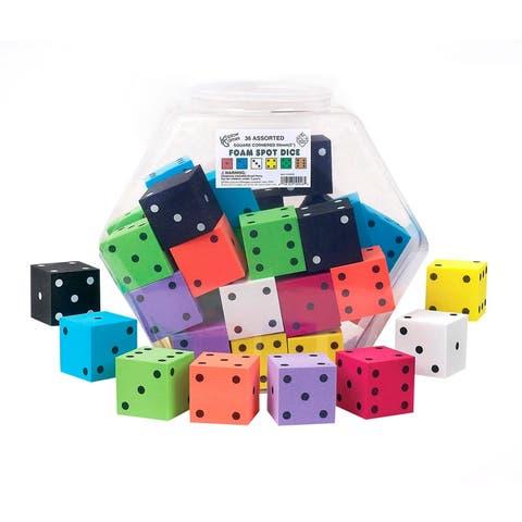 Koplow games 2in foam dot dice 36/tub 10946