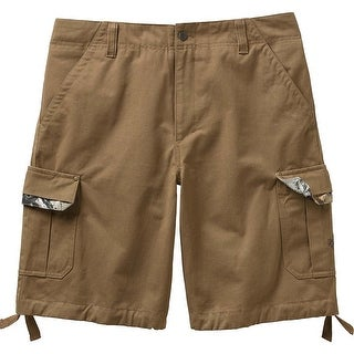 Legendary Whitetails Men's Base Camp Twill Cargo Big Game Camo Shorts - Bark
