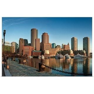 """""""Boston skyline, Massachusetts"""" Poster Print"""