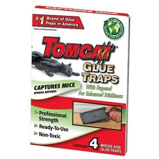 Tomcat BL32411 Mouse Size Glue Traps, Plastic, 4/Pk