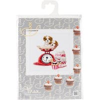 """Baking Puppy On Aida Counted Cross Stitch Kit-12.25""""X11.75"""" 16 Count"""