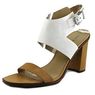 Via Spiga Belia Open-Toe Leather Slingback Heel
