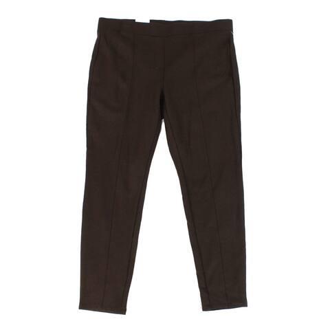 Style & Co Womens Leggings Truffle Plus Ponte Pull On
