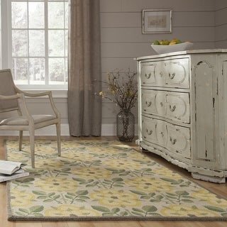 Momeni Newport Yellow Hand-Tufted Wool Rug (2' X 3') - 2' x 3'