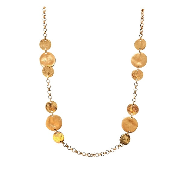 max & MO Gold Illusion Hammered Coin Necklace