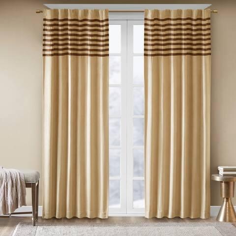 Madison Park Dune Microsuede Beige Curtain Panel Pair
