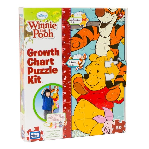 Disney Winnie the Pooh Growth Chart Puzzle Kit - multi-color - 12.0 in. x 2.0 in. x 10.0 in.