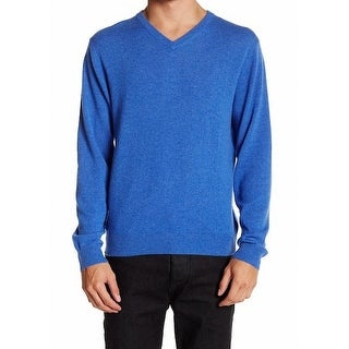 Weatherproof NEW Blue Mens Size Medium M V-Neck Cashmere Sweater