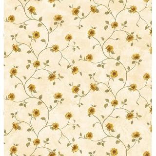 Brewster FFR93165 Neutrals Sunflower Trail Wallpaper