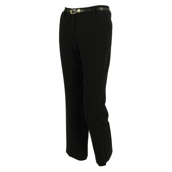 Charter Club Women's Belted Straight Leg Pants