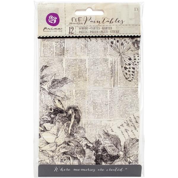 "Iron Orchid Designs Everyday Vintage Paintables Cards-Classic Memories 4""X6"", 12/Pkg"