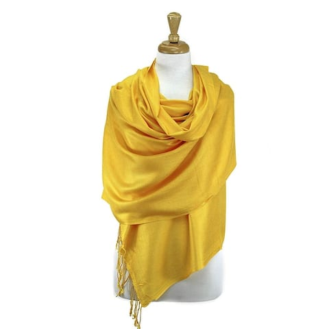 Beautiful Solid Colors Luxurious Pashmina Scarf Perfect Party Favor