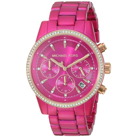 Michael Kors Women's MK6718 Pink Stainless Steel Watch - One Size