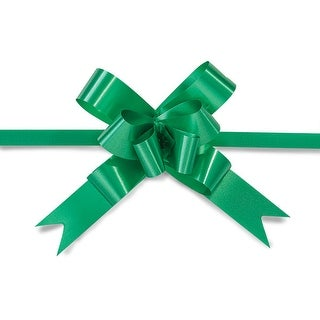"""Pack Of 100, 2"""" Solid Deep Emerald Butterfly Pull Bows Petite Pull Bows 100% Polypropylen For Christmas Baskets & Gifts"""