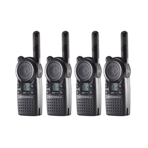Motorola CLS1110 (4 Pack) Professional 2-Way Radio / 2 Mile Range