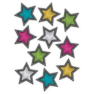 "6"" Stars; Chalkboard Brights - Teacher Created Resources Accents 30/Pkg"