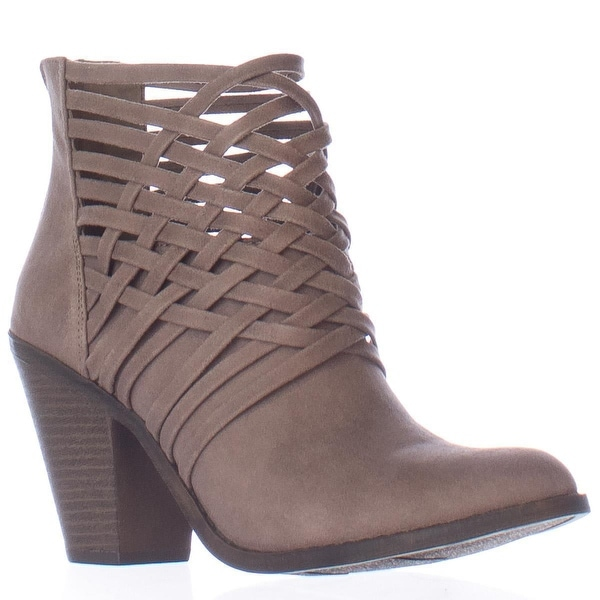 Fergalicious Weever Multi Strap Woven Ankle Boots, Doe