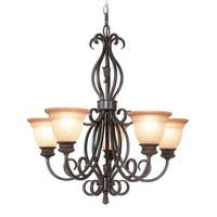 Woodbridge Lighting 12141-RBZ 5 Light Up Light Single Tier Chandelier from the Fairhaven Collection - Gold