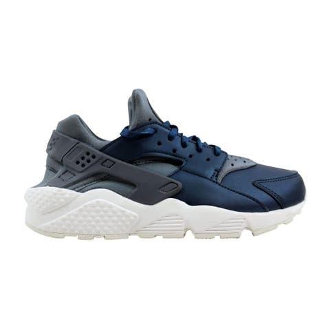 reputable site 6cc82 59d10 Nike Air Huarache Run Premium TXT Cool Grey Metallic Armory Navy AA0523-001  Women s