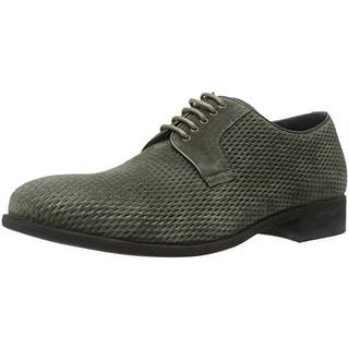 A. Testoni Mens Suede Textured Derby Shoes - 10.5 medium (d)