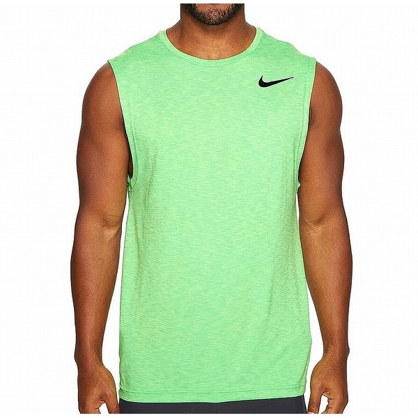 6c860be06 Shop Nike Ghost Green Mens Size XL Breathe Training Dri Fit Tank Top - Free  Shipping On Orders Over $45 - Overstock - 22086514