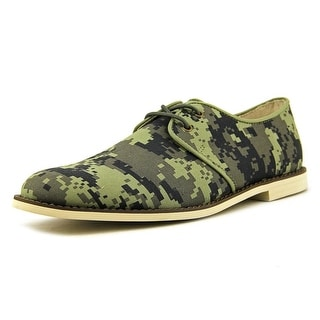Generic Surplus Klein Men Round Toe Canvas Green Oxford