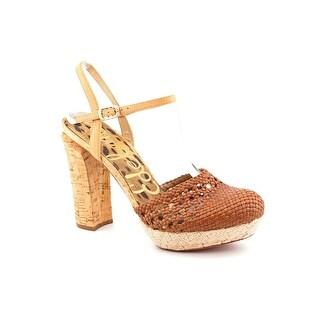 Sam Edelman Rella Women Open Toe Leather Platform Heel