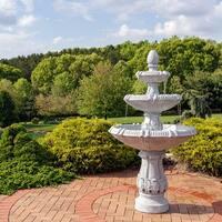 Sunnydaze 3 Tier Gothic Finial Outdoor Garden Water Fountain 73 Inch Tall