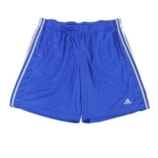Adidas NEW Blue Grey Mens Size XL Stripe Athletic Performance Shorts