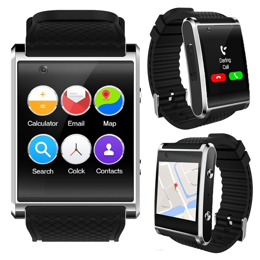 1.54-inch OLED Android ONLY SmartWatch by Indigi (Bluetooth 4.2 Sync - QuadCore CPU - 3G GSM Unlocked - GPS) - Thumbnail 0