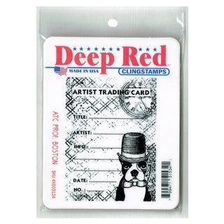 Deep Red Stamps ATC Prof. Boston Rubber Cling Stamp - 2.6 x 3.6