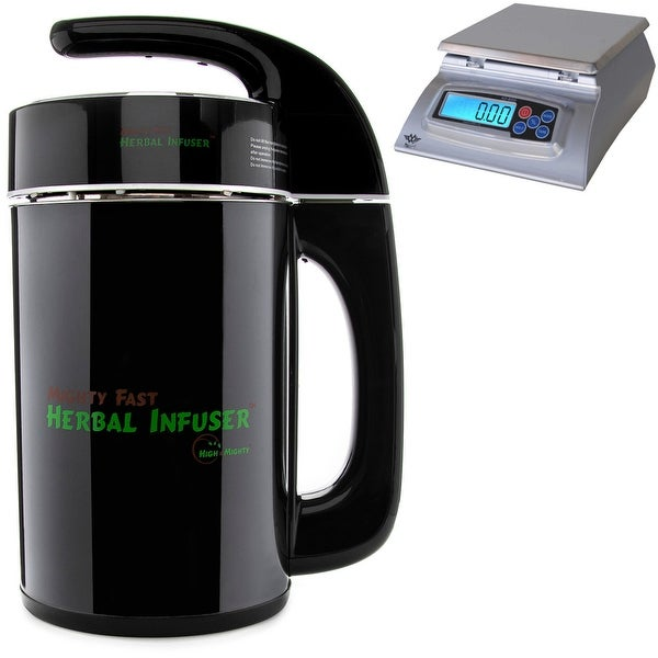 High and Mighty Mighty Fast Herbal Infuser with My Weigh Kitchen Scale