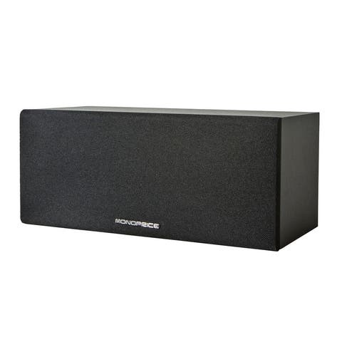 Monoprice Premium Home Theater Center Channel Speaker, Black