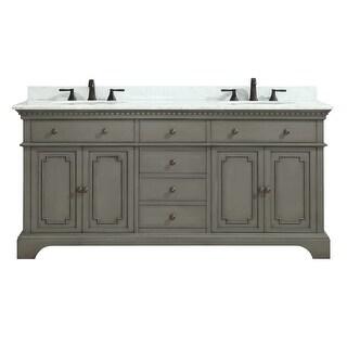 "Azzuri HASTINGS-VS72 Hastings 72"" Double Vanity Set with Wood Cabinet, Marble Va"