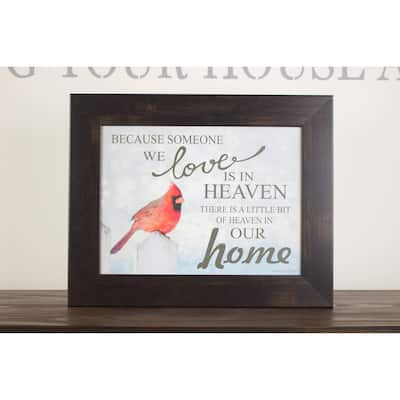 Because Someone You Love Is In Heaven In Our Home Cardinal Blue Red Framed Art Decor