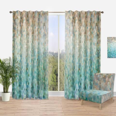 Designart 'Blocked Abstract' Nautical & Coastal Curtain Panel