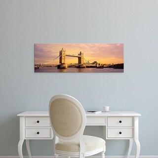 Easy Art Prints Panoramic Images's 'Tower Bridge London England' Premium Canvas Art
