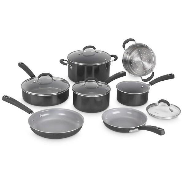 Cuisinart Ceramica XT Nonstick 11-Piece Cookware Set (Black). Opens flyout.