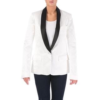 Rodarte Womens Linen Shawl Collar Tuxedo Blazer