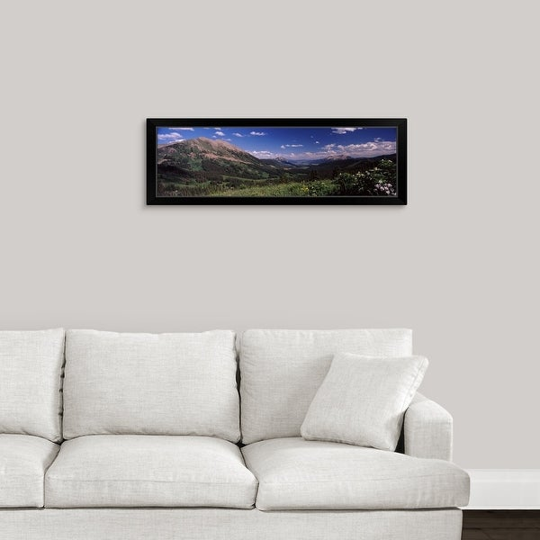 """""""Wildflowers with mountains in the background Crested Butte Gunnison County Colorado"""" Black Framed Print"""