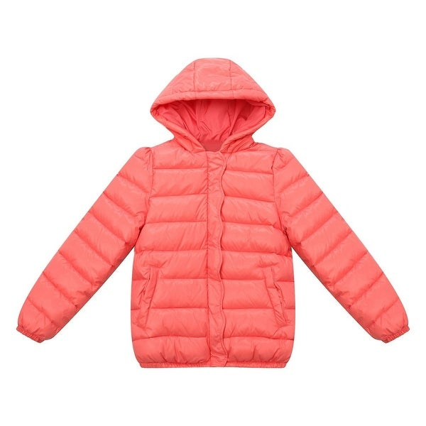 c78846fb2255 Shop Richie House Little Girls Red Ruffled Placket Winter Padding ...