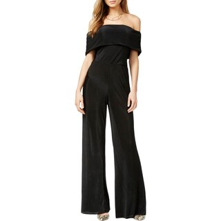 Guess Womens Luna Jumpsuit Ribbed Cape Sleeves