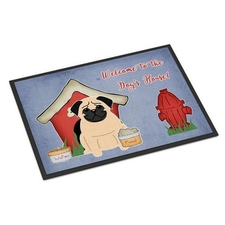 Carolines Treasures BB2762JMAT Dog House Collection Pug Fawn Indoor or Outdoor Mat 24 x 0.25 x 36 in.